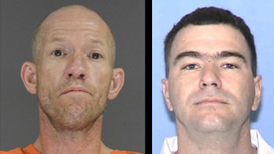 Robert Sizemore (Left) was killed during a theft attempt, according to the sheriff's office.  Chuck Weir (Right) is still wanted by authorities.