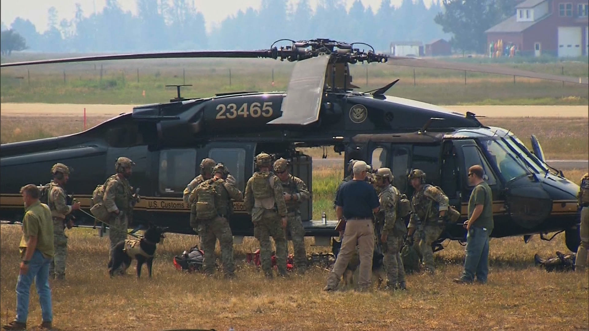 Pictured: Crews prepare to search an area near Morehead Lake, Idaho.   A massive manhunt that spanned 1,000 miles ended in gunfire in the Idaho wild late Saturday afternoon, August 10, 2013, -- shots that ended the life of the family friend who was suspected of abducting 16-year-old Hannah Anderson and killing her mother and brother. The teenager was rescued near Morehead Lake, Idaho, where an FBI tactical agent killed her alleged kidnapper, James DiMaggio, around 5:20 p.m (7:20 p.m. ET), authorities said.