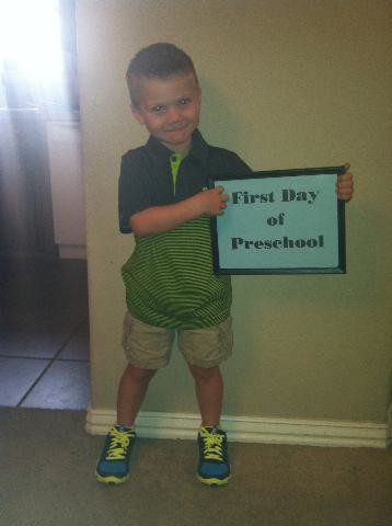 Riley's first day of pre-school