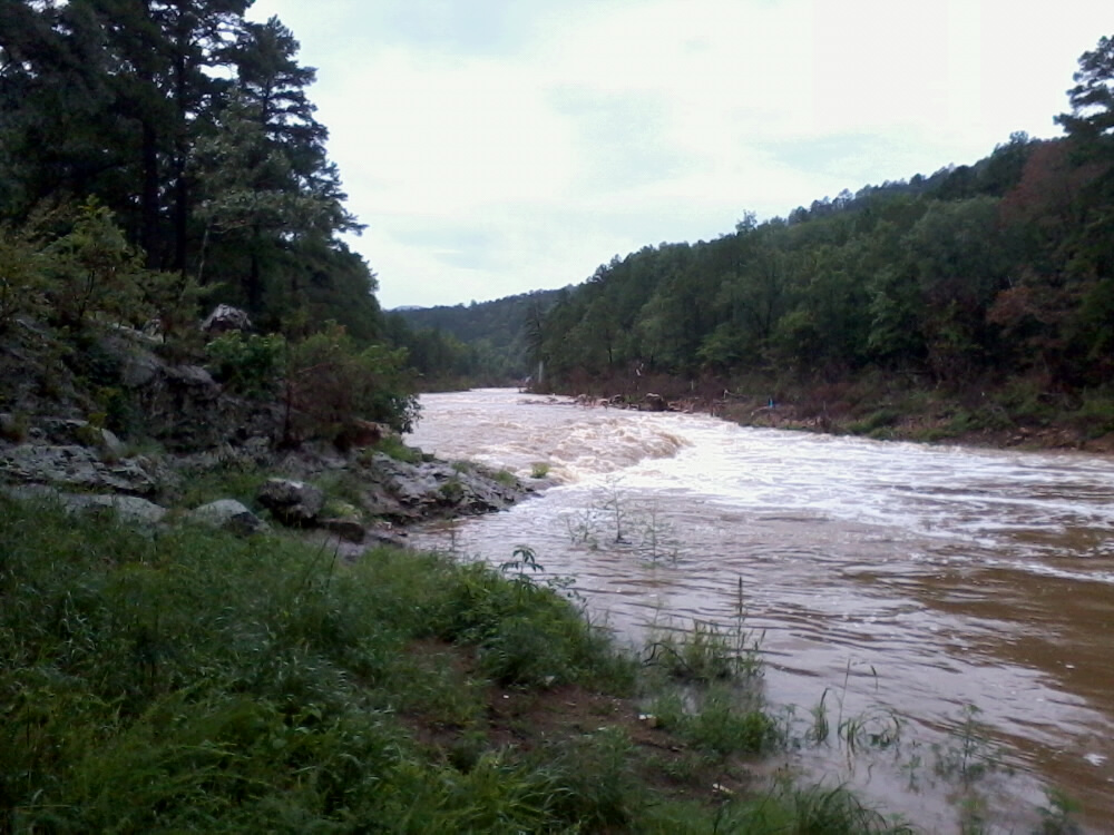 Rising water in Scott County on Aug. 13
