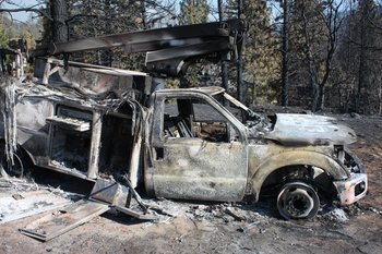 Rim Fire wreckage
