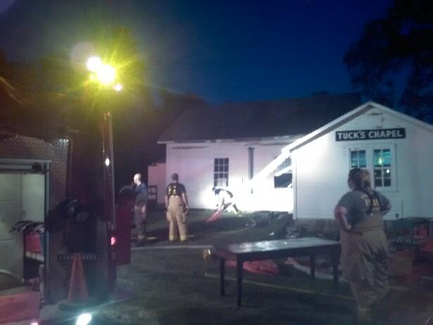 church fire benton county