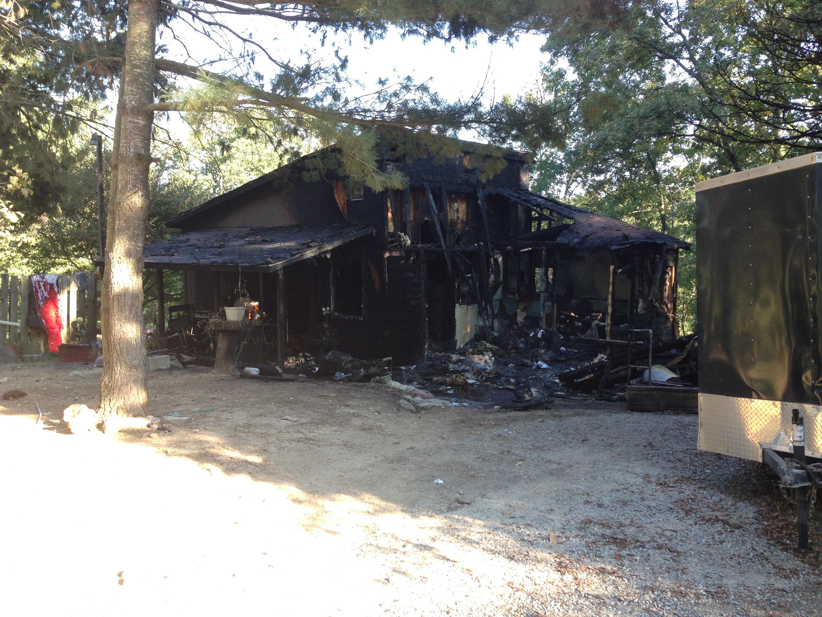 fire bella vista house destroyed
