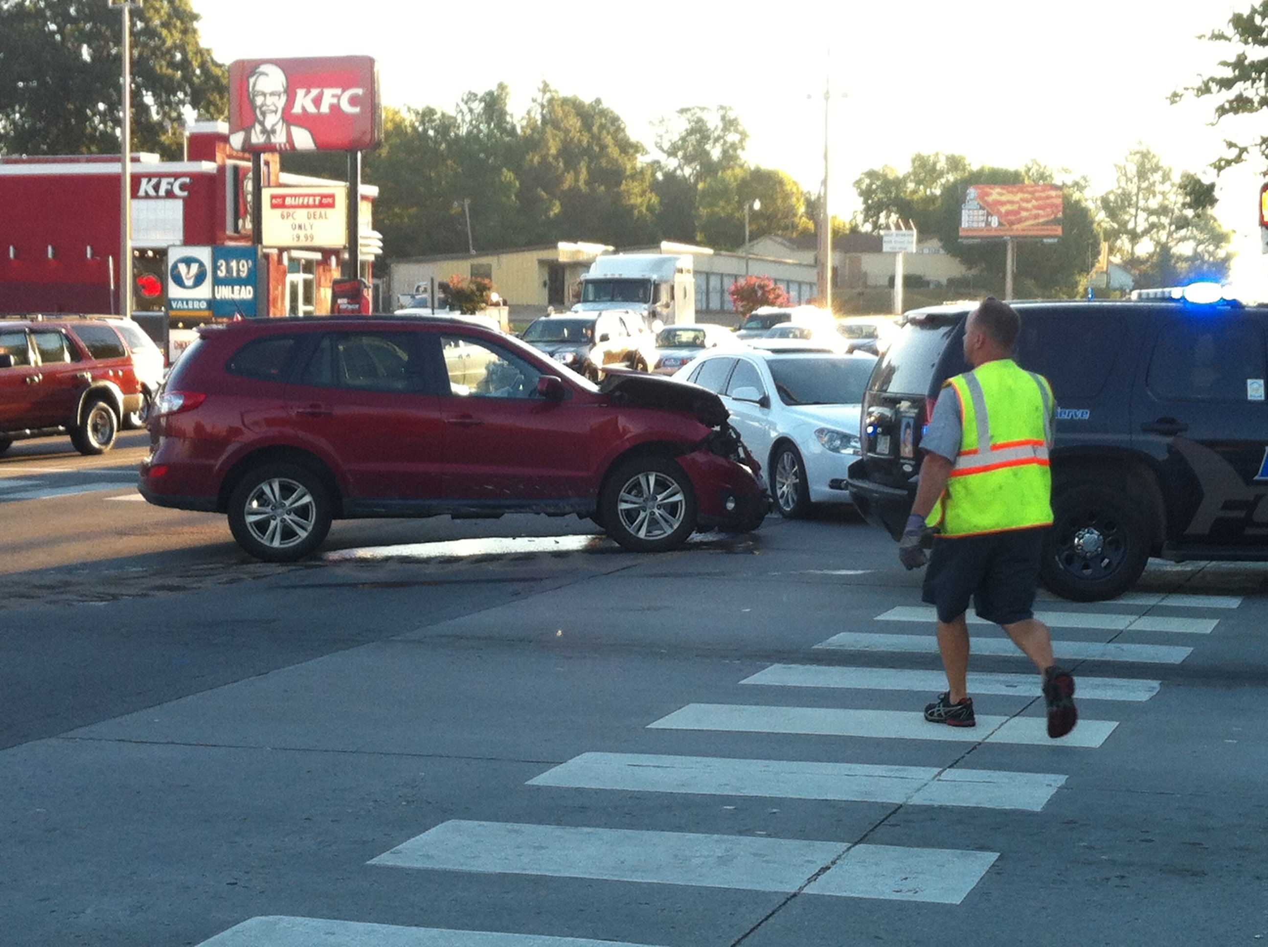Three car crash on Grand Avenue in Fort Smith.