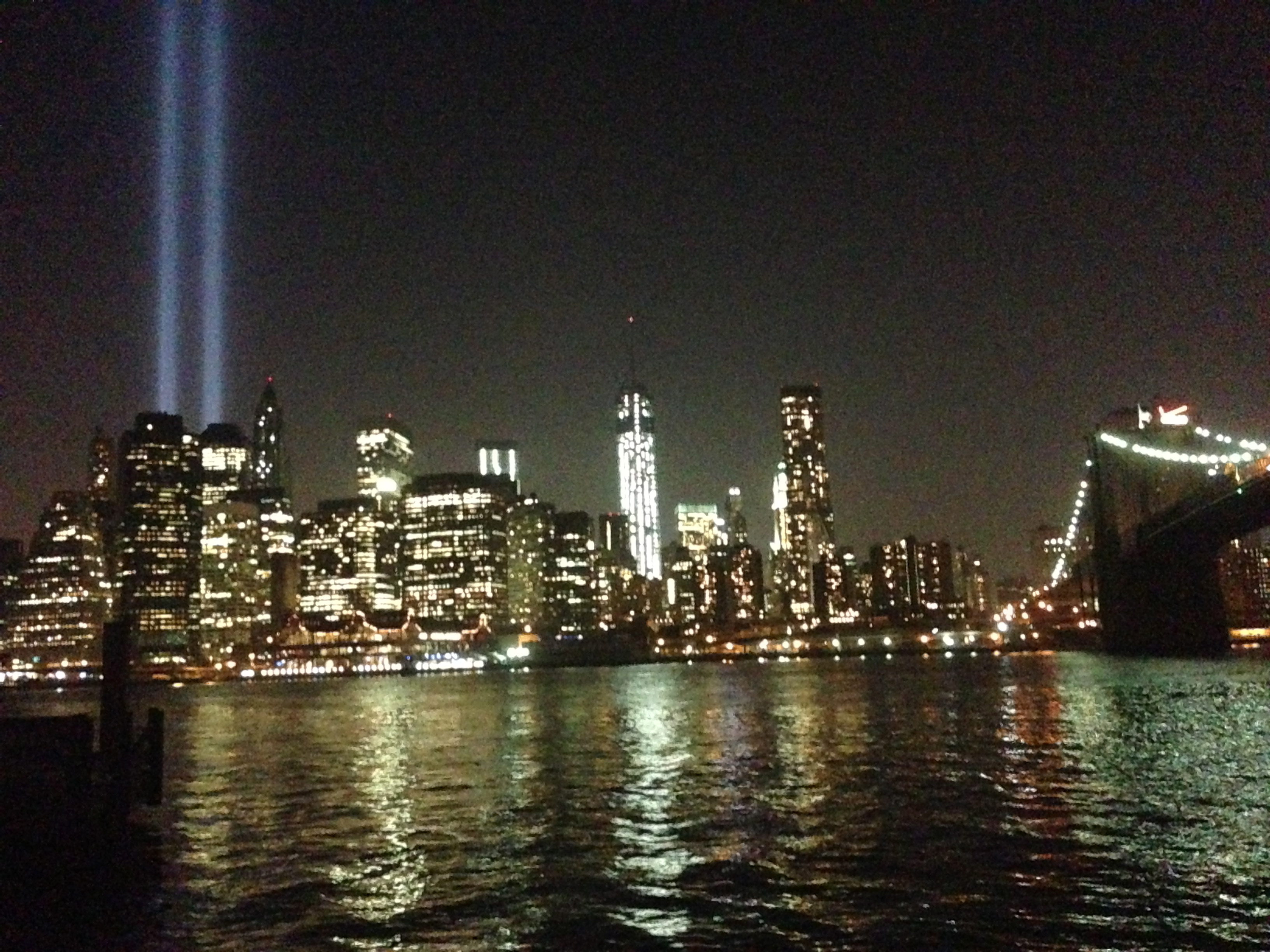 Rehearsal for 9/11 Light Tribute held on Tuesday
