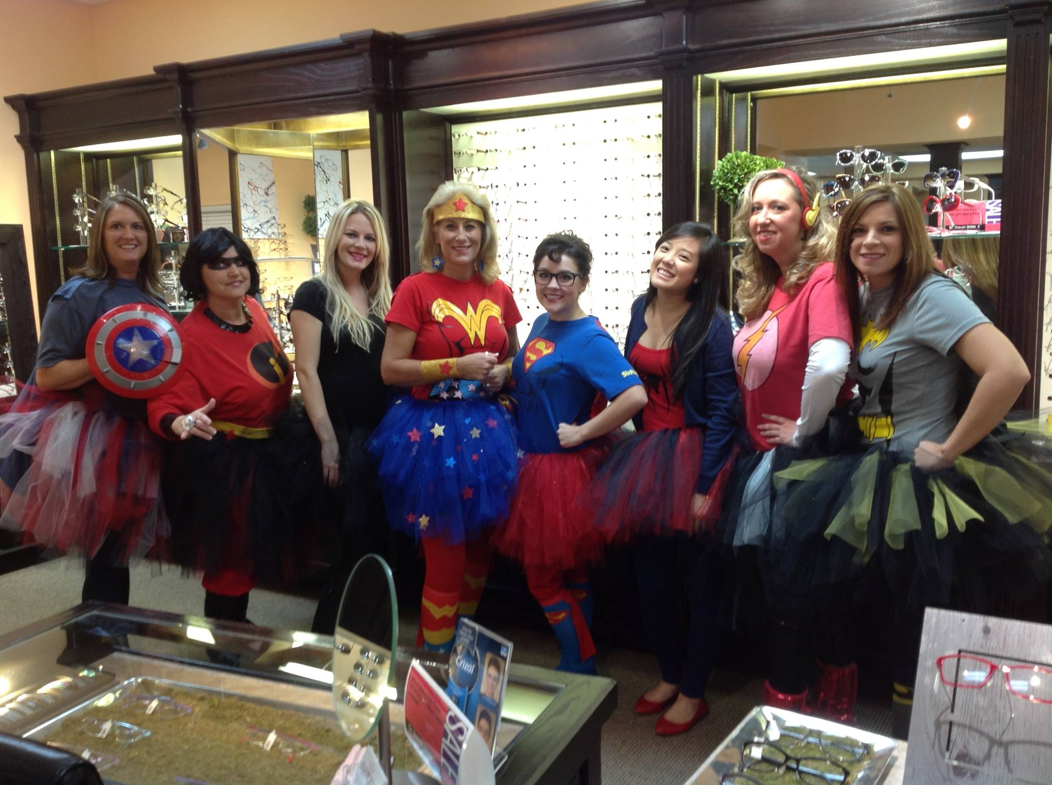 Dr.Steven Stiles Eyegroup staff. HAPPY HALLOWEEN!!!!