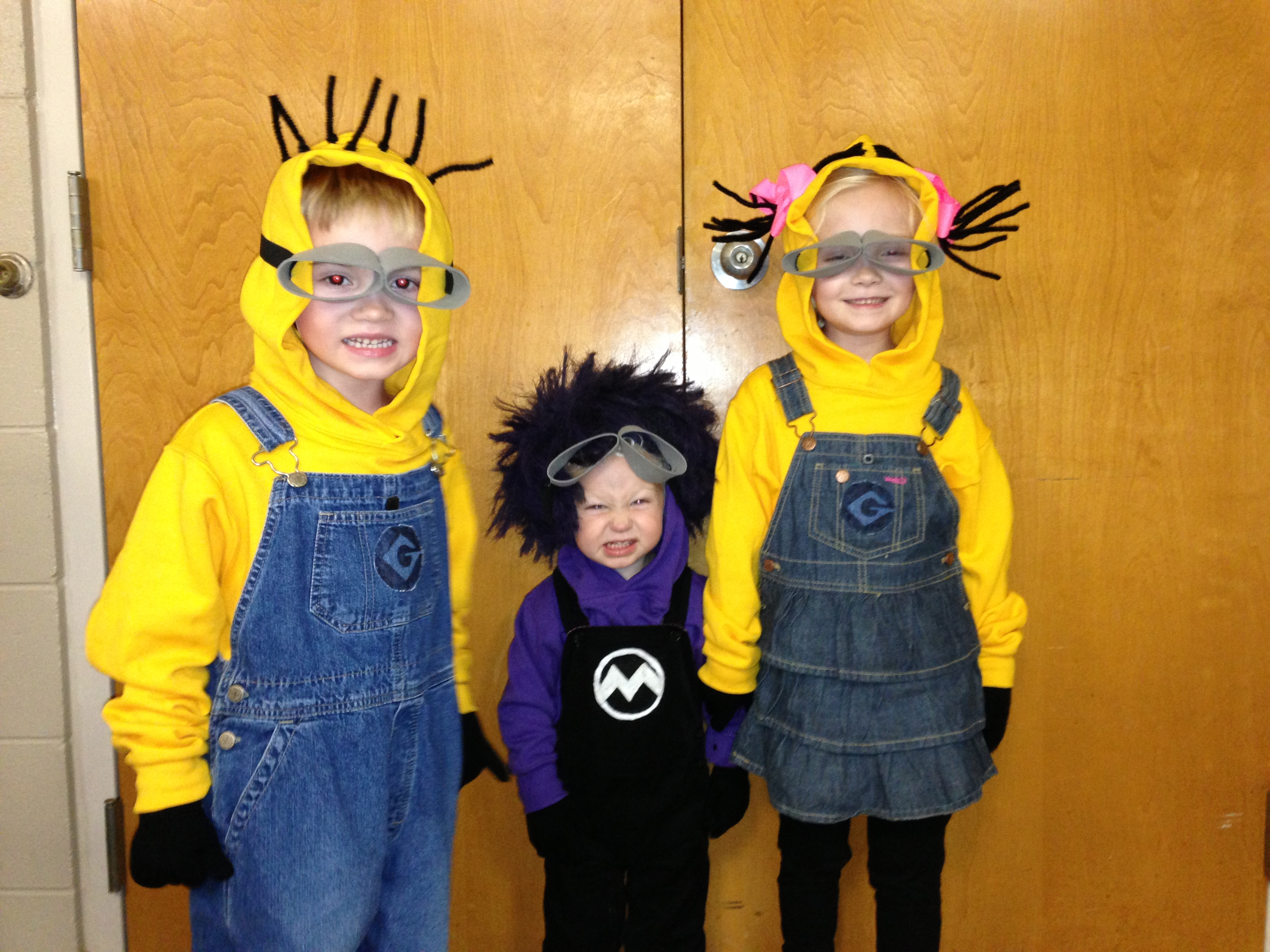 Despicable Me Minions. Katie, 6, Carter, 4, and Max, 1