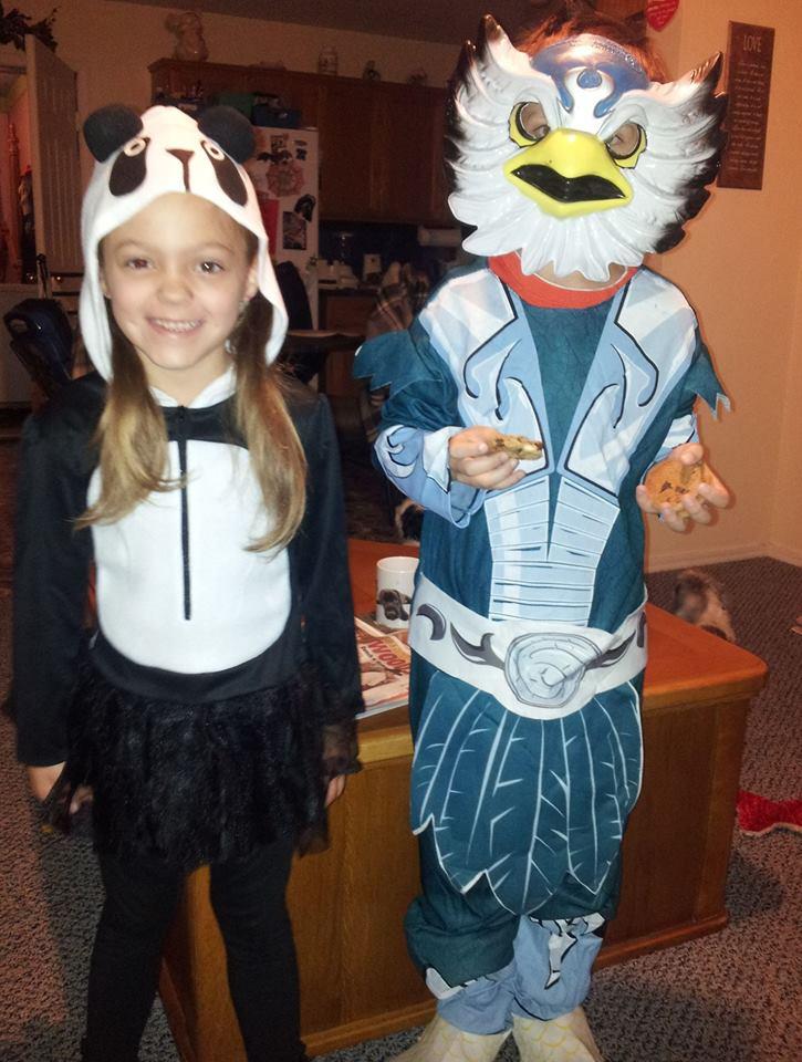 panda bear and skylander :)