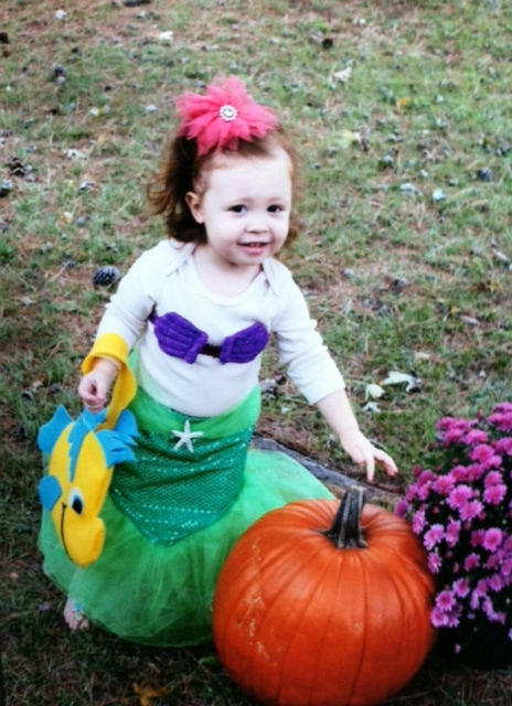 Sophia as the Little Mermaid