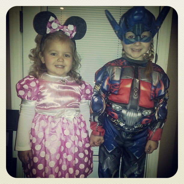 Optimus Prime and Minnie Mouse