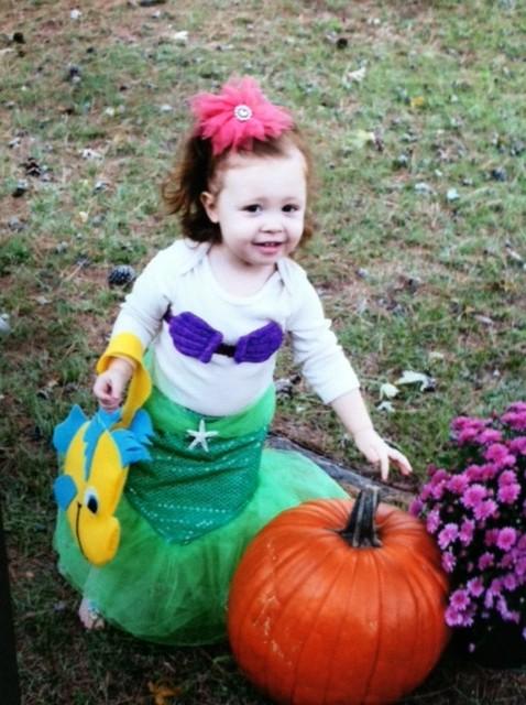 Sophia as the Little Mermaid