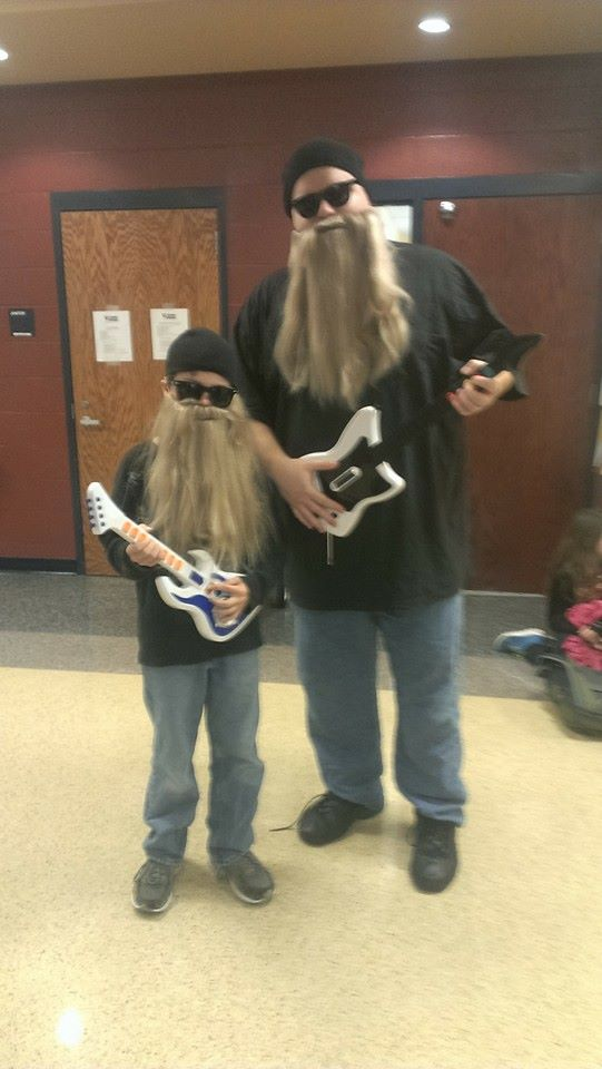 ZZ Top showed up at Mary Mae Jones Elementary for Halloween! (Sean & Derik from Bentonville).