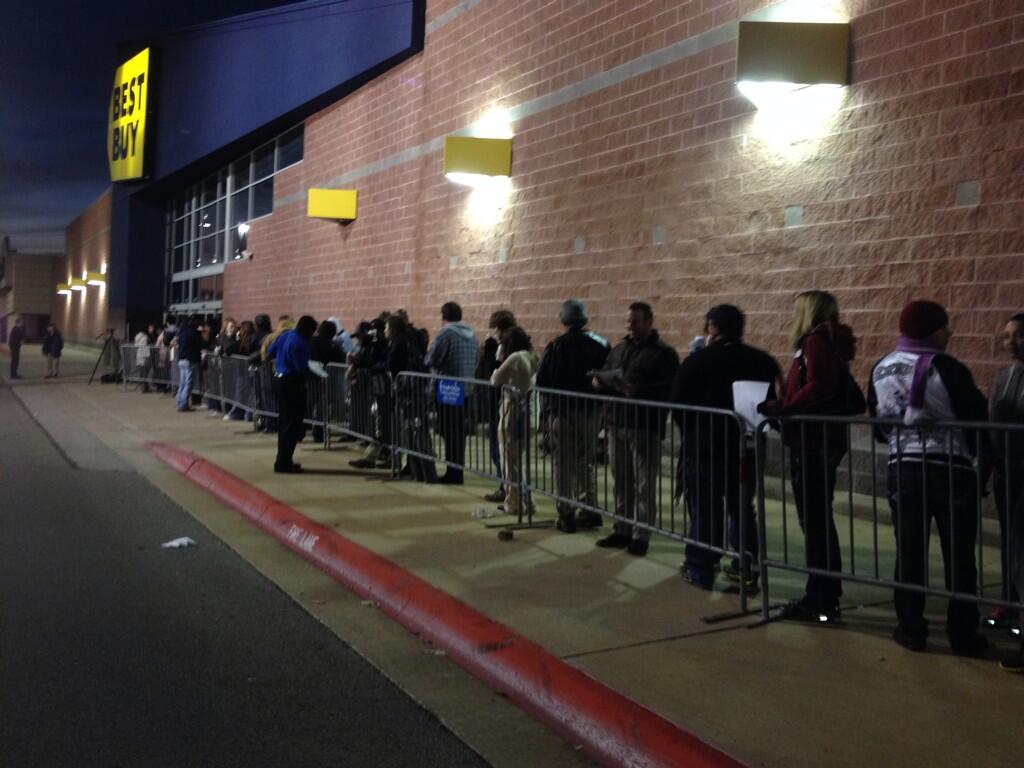 Waiting Outside Fort Smith Best Buy
