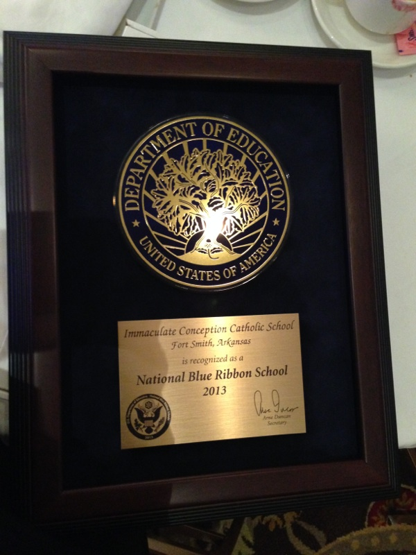 The National Blue Ribbon School Award.