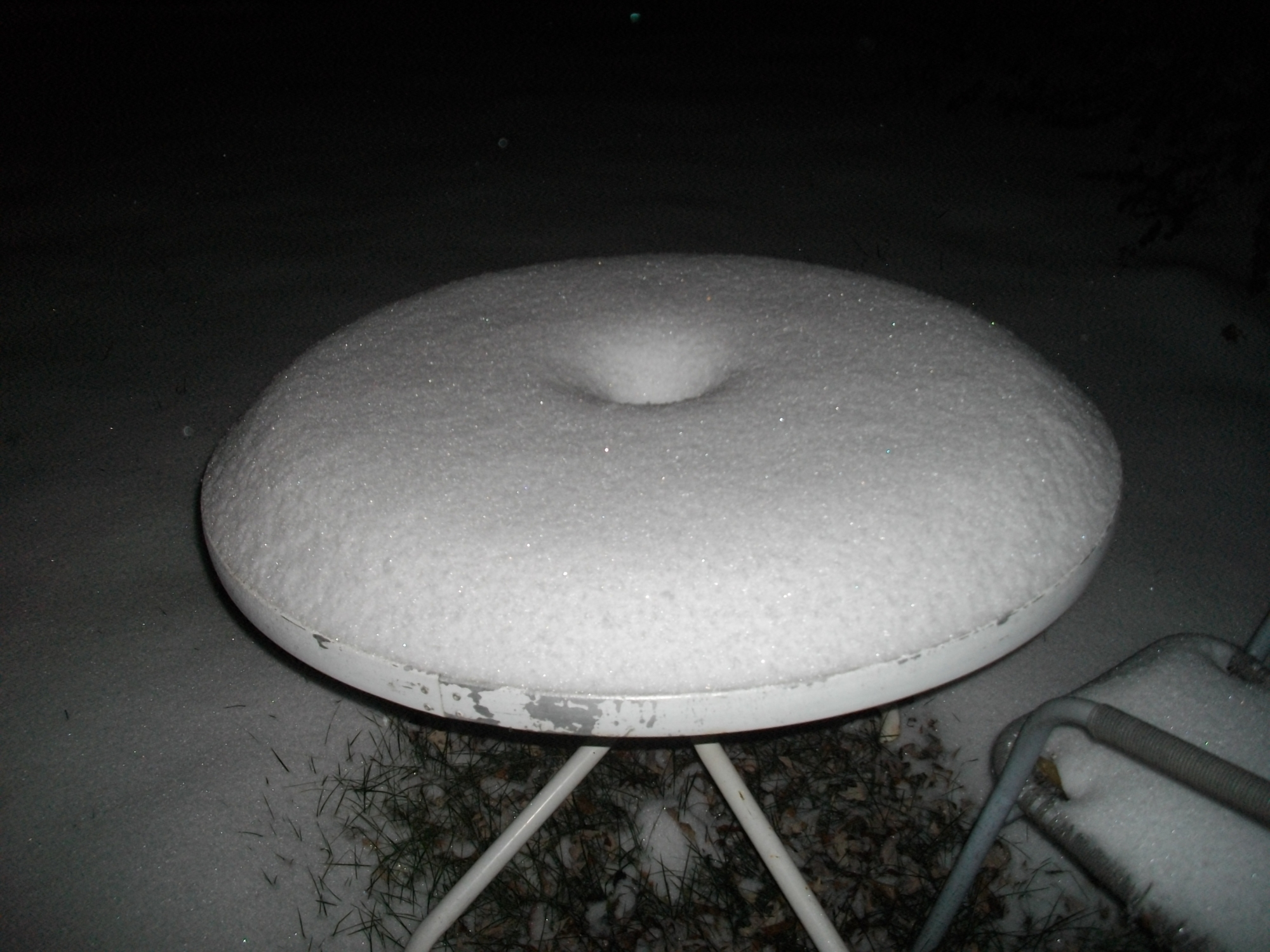 Snow in Rogers at 9 PM From Cheryl Locklin