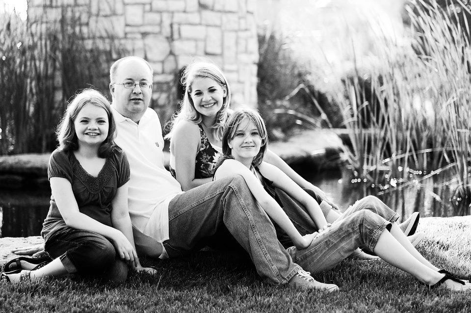 Father, David Boxx and Three Daughters