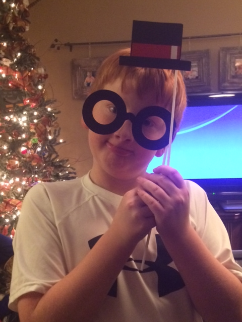 Grandson, Colton dressing up