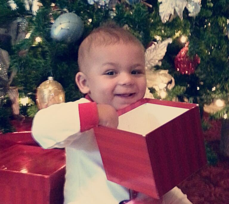 Jacoby Celebrating First Christmas,  Johnson