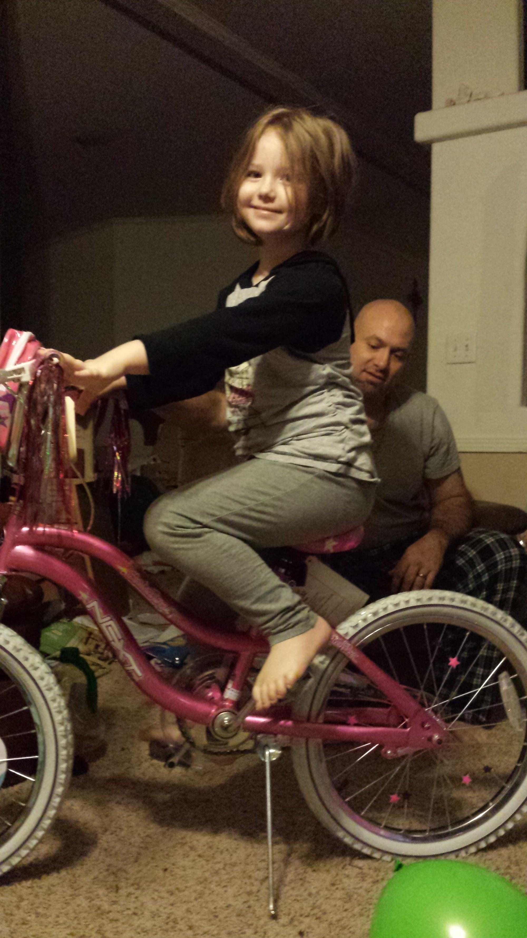 Nevaeh and her bike!
