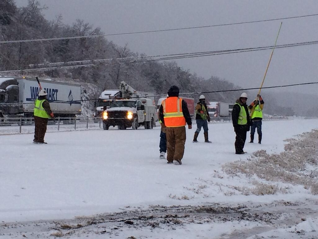 Power lines low in Fort Smith