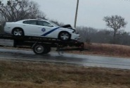 ASP involved in accident near Hwy 71 and 45 intersection.