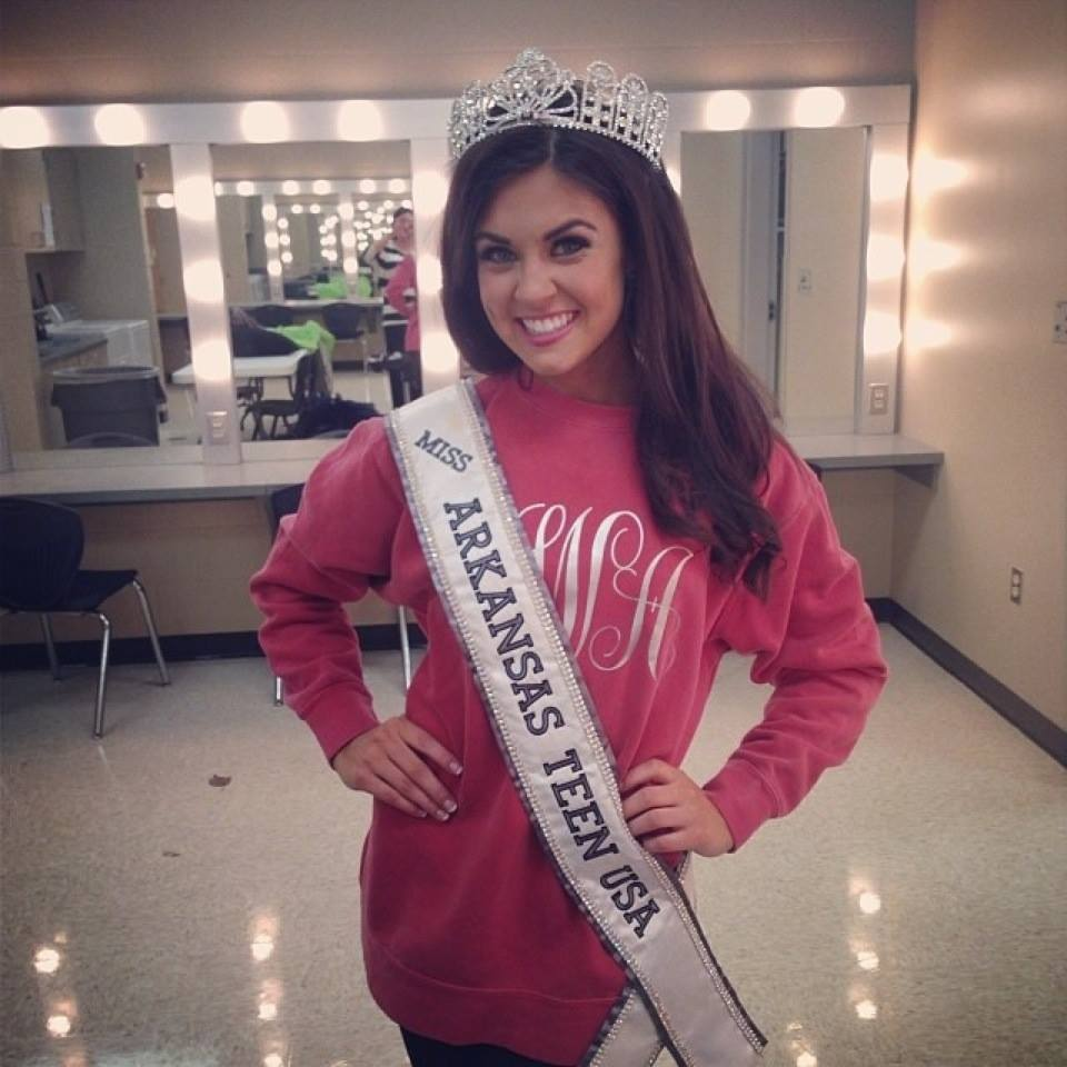 Miss AR Teen USA after crowning.
