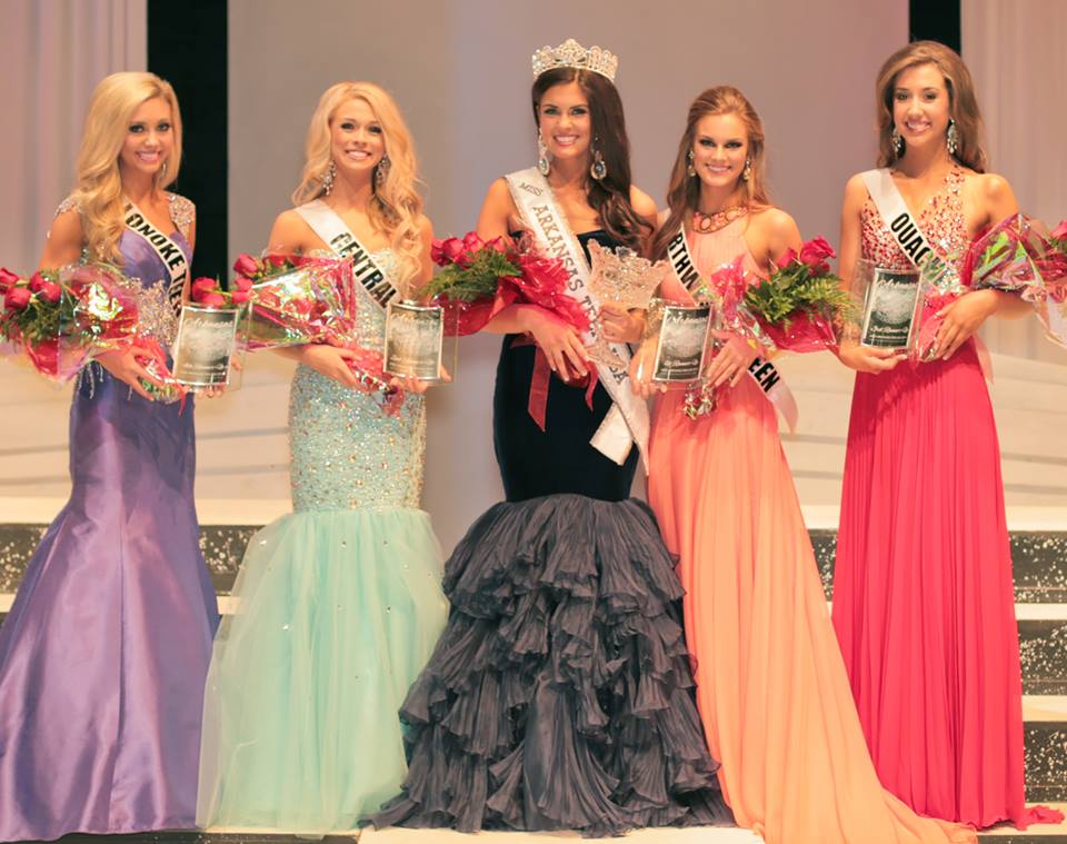 Miss AR Teen USA and her court.