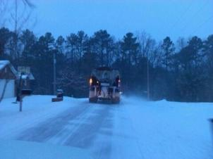 Snowplow in Benton County early Sunday (Jan. 5)