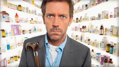 "Actor Hugh Laurie played Dr. Gregory House on the TV medical drama ""House."" (Photo courtesy of CBS News)."