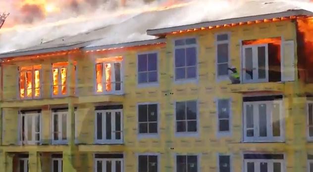 Construction Worker Fire