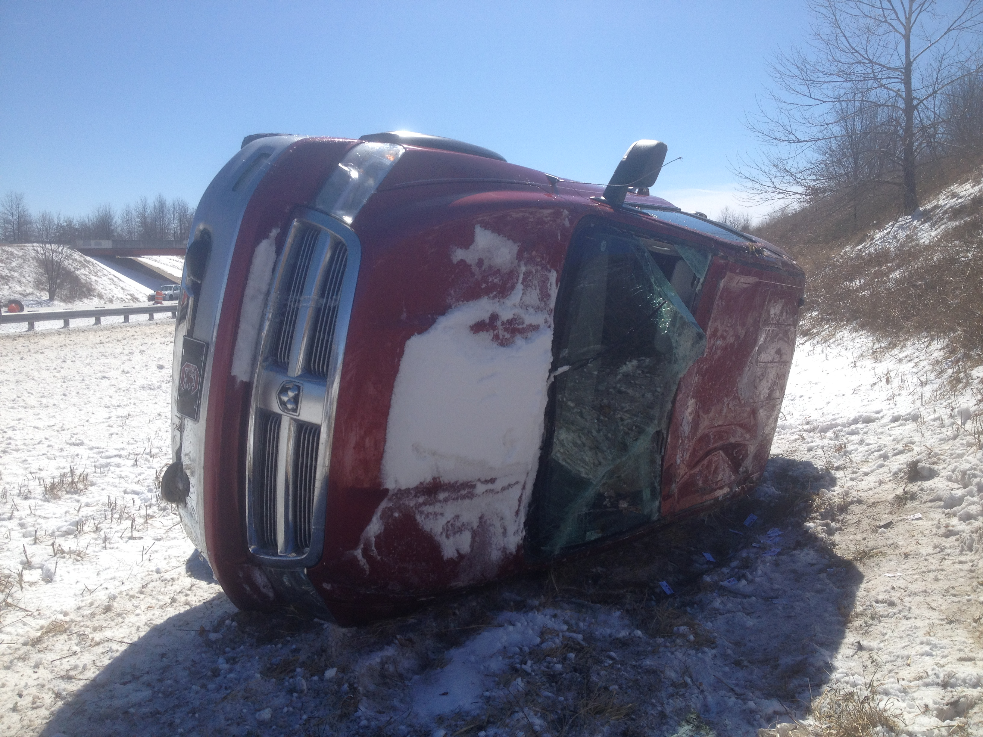 truck flipped march 3
