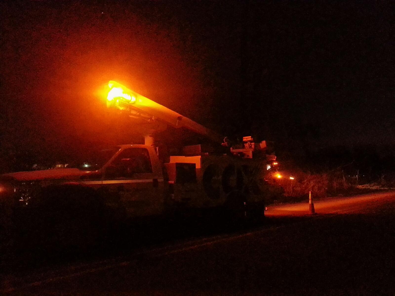 lowell transformer fire cox truck