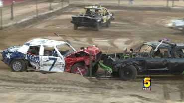 Rogers Family Competes In Demolition Derby