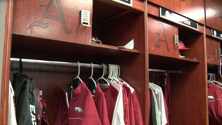 arkansas baseball locker