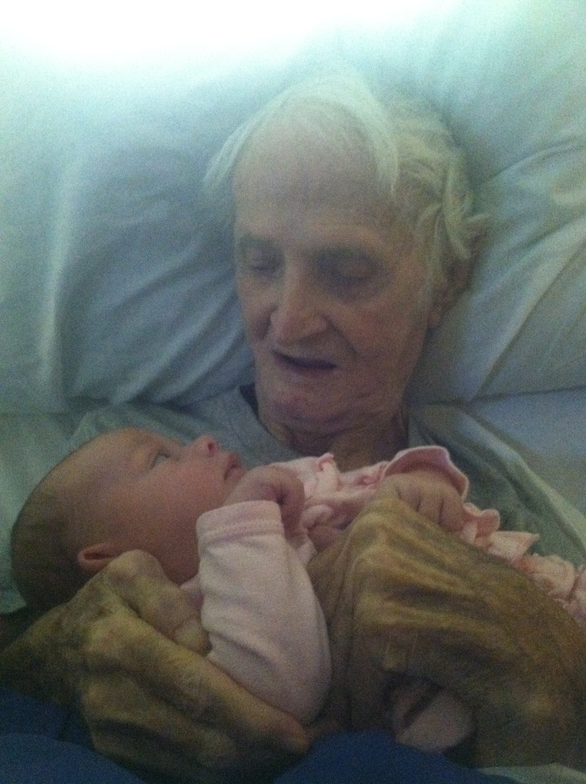 Charles Hill with great granddaughter Mercy