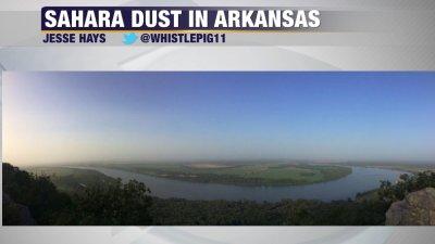 Garrett's Blog: Sahara Dust In Arkansas   Fort Smith/Fayetteville