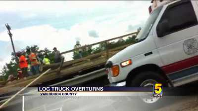 log truck crash