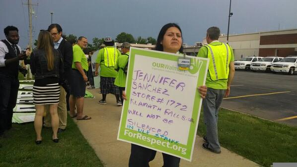 Protest at Walmart