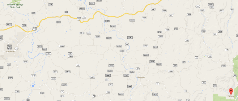 Ponca Map