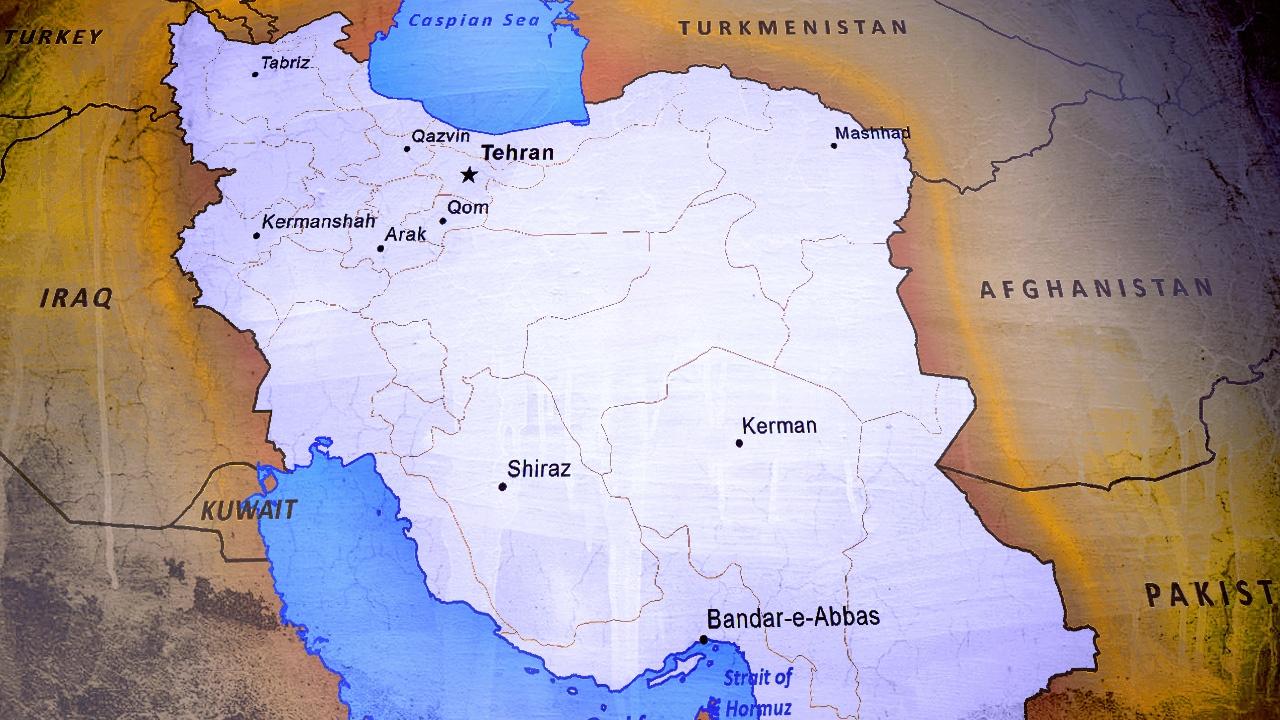 tehran map