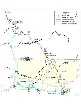 Bella Vista Bypass Map