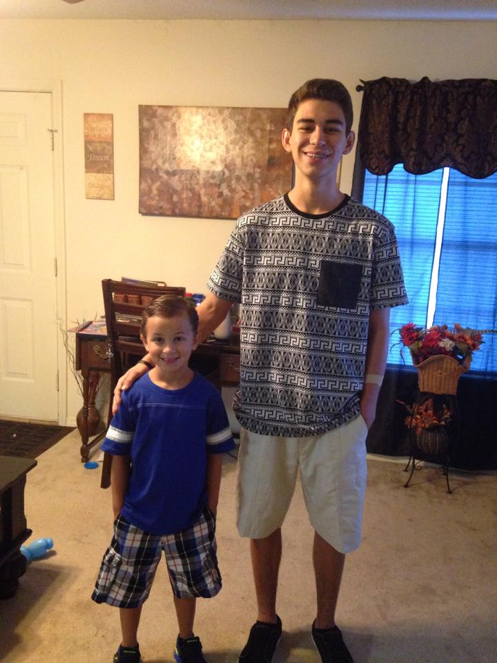 Brody, 2nd Grade, and his brother Tyler, 12th Grade