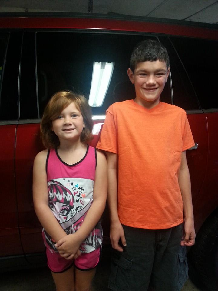 Joleigh, 2nd Grade, and MJ, 7th grade, from Lamar