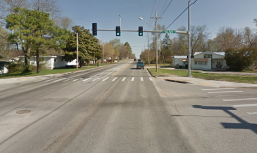 Intersection of West Olive Street and 8th Street. Courtesy: Google Maps.