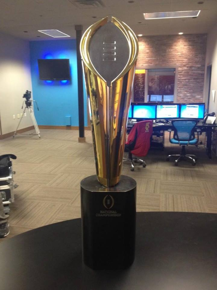 College Football Playoff Trophy Comes To Northwest Arkansas