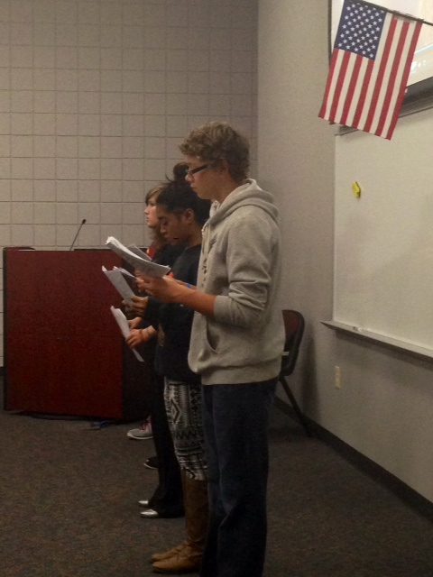 Theater Students Narrating Accounts From 9-11 Victims And Survivors