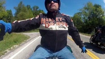 Bikers Test Drive Harleys