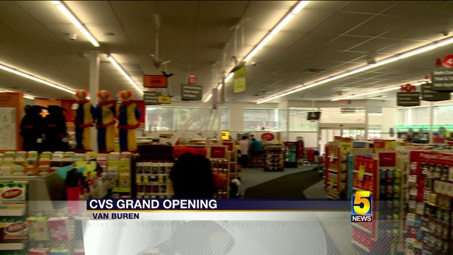 cvs pharmacy holds grand opening in van buren