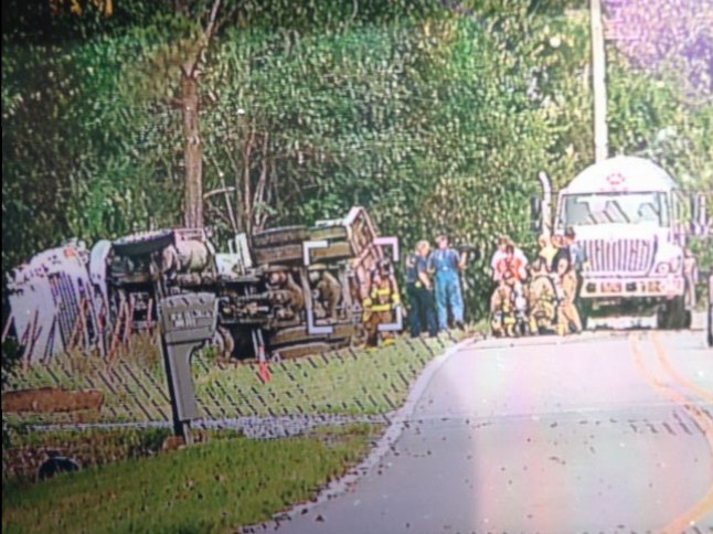 propane truck crash site