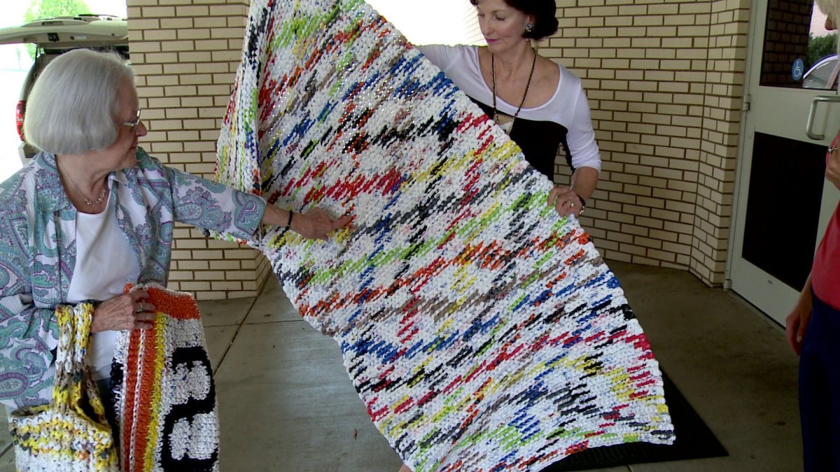 Sleeping Mats Made From Plastic Bags Donated To School